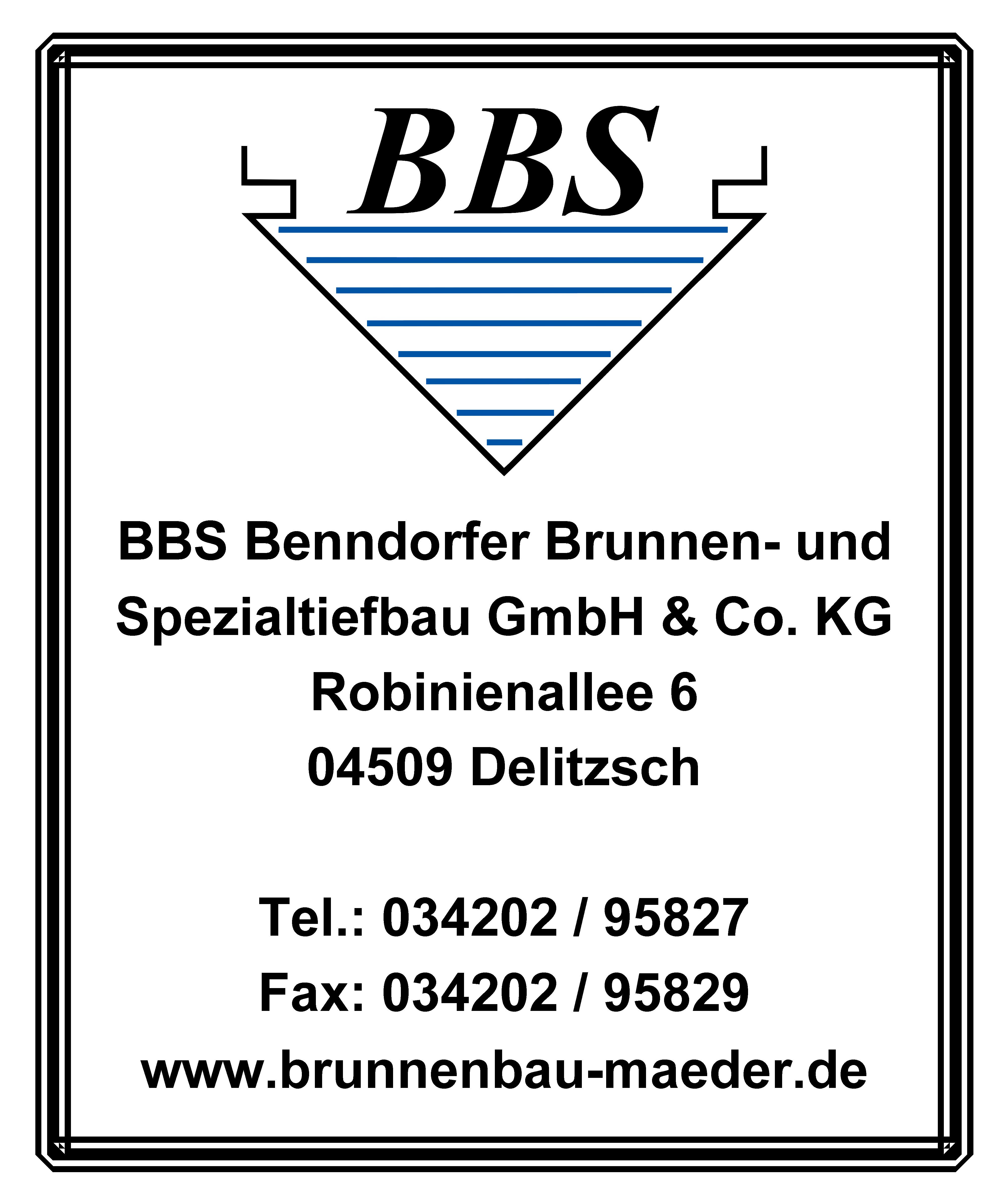 BBS Benndorfer Brunnen- und Spezialtiefbau GmbH & Co. KG förderer des Blasmusikverein Schenkenberg e.V.